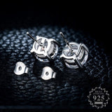 Sona NOT FAKE  925  S925 Sterling Silver round cut style boutique 1 carat gift none allergic stud earrings luxury exquisite