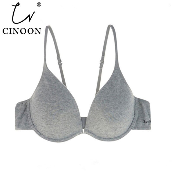 CINOON Women Underwear Backless Intimates sexy push up bra  Memory Foam Solid 3/4 Cup Soft Bra Charming Sexy Bras bralette