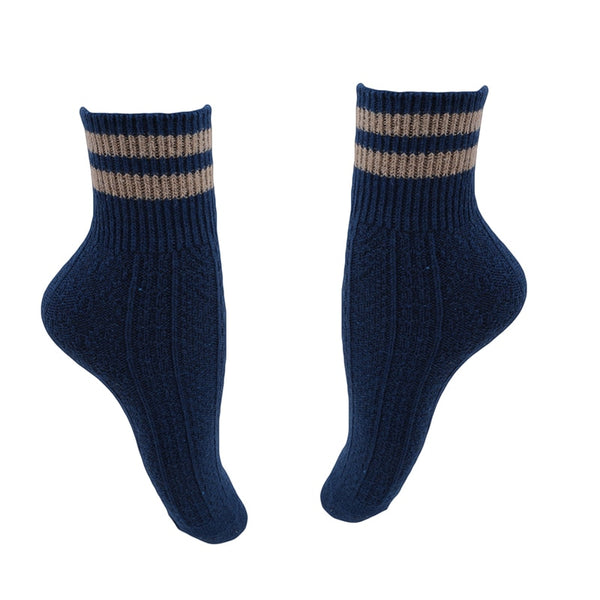 Winter Women Striped Design Cashmere Cotton Wool Thick Warm Socks Fashion Heigh Quality Soft Comfortable Socks Accessories