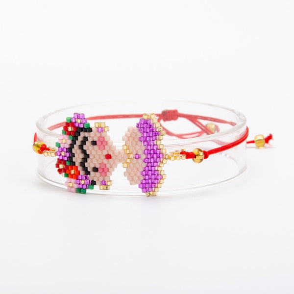 Frida and-woven Simple Jewelry Line Cartoon Bracelet