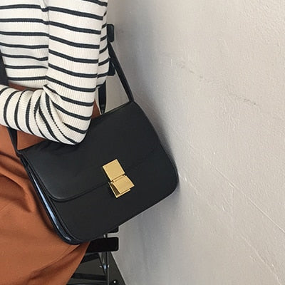 Vintage Women Shoulder Bags Designer Chic Flap Female Crossbody Bag Luxury Pu Leather Messenger Bags Fashion Lady Small Purses
