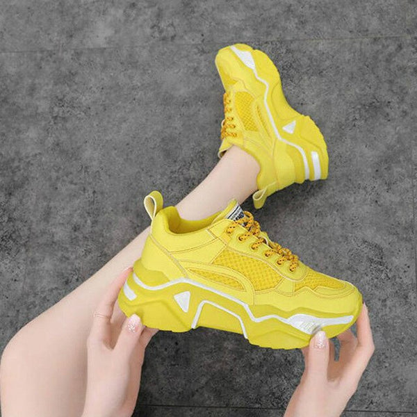 NEW Women Chunky Sneakers Platform Spring Shoes Woman Casual Footwear Female Sneaker Dames Dad Shoes Trainers Basket Femme W4