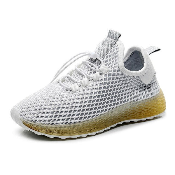 Leisure Canvas Women Shoes 2019 Spring New Arrival Solid Color Shallow Ladies Casual Sneakers Platform Breathable Mesh Footwear