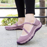 Thestron Women Loafers Women Casual Shoes Fashion Footwear Breathable Women Brown Purple Flat Shoes Walking Designer Non Slip