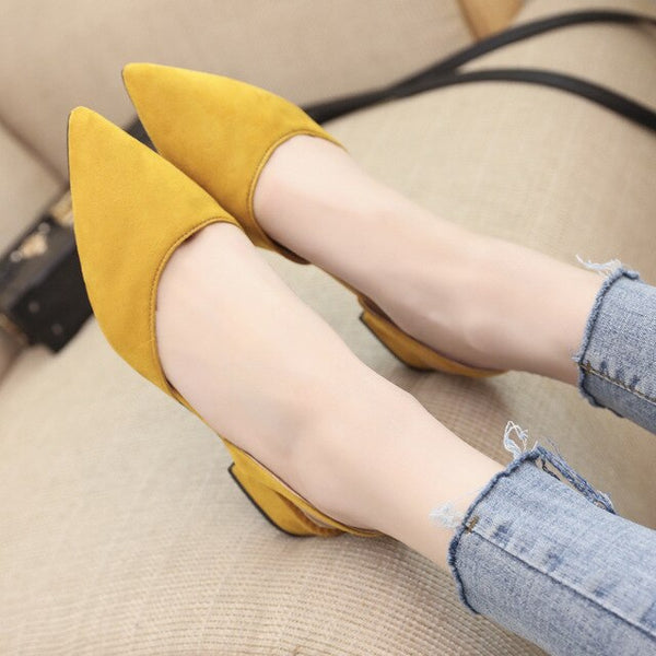 Dropshipping Women Pumps Ankle Strap Thick Heel Women Shoes Square Toe Mid Heels Dress Work Pumps Comfortable Ladies Footwear