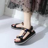 LAIBEITAI Woman Summer casual beach shoes  hombre lady summer dress footwear