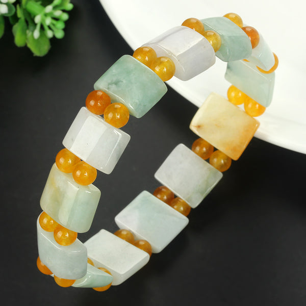 Authentic natural yu A goods Bamboo row bracelets  Myanmar yu A cargo  bracelet/