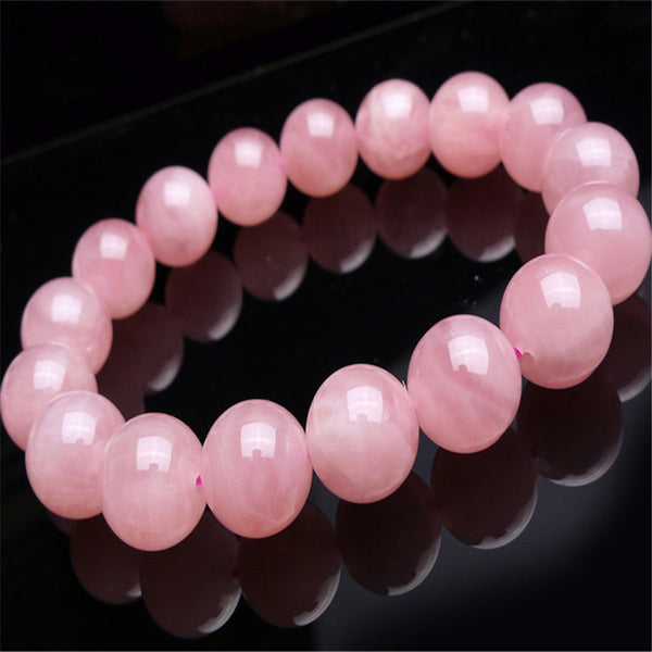 2018 Newly Natural Madagascar Quartz Crystal Round Beads Bracelet Drop Shipping AAA 13 mm Trendy Women Femme Genuine Precious