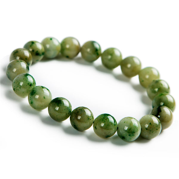 10.5mm Genuine Natural Green DushanStone Bracelets For Women Femme Charm Stretch Crystal Round Bead Bracelet Fashion Round Beads