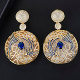 missvikki European American fashion style Luxury Temperament Round Pendant Earrings for Women Bridal Wedding Engagement Jewelry