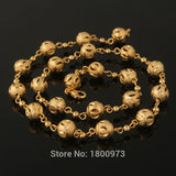 Unique Gold Ball Link Chain  Gold Color Fashion Jewelry For Women Gift New Trendy Chokers Necklaces Free Shipping