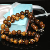 Natural tiger's eye stone 8mm trendy stone high quality round beads diy beautiful woman necklace making 18 inches BV393