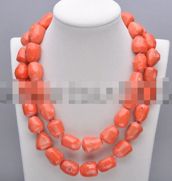 "FREE SHIPPING>>@> A906 Rare 35"" 25MM massive pink coral bead NECKLACE"