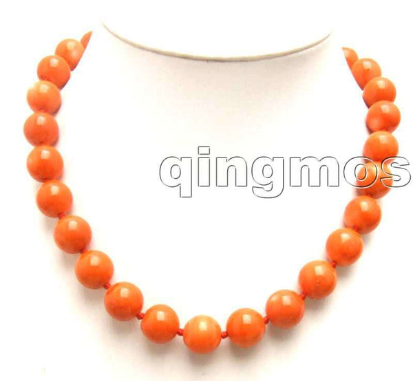 "SALE Beautiful Big 12-13mm High quality 100% round Nature Pink Coral 18"" Necklace-nec5272 wholesale/retail Free shipping"