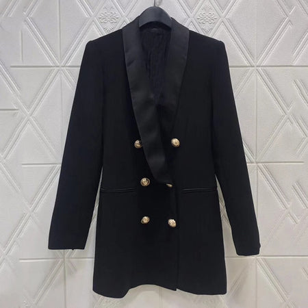 Fashion korean long coat High Quality Elegant party cotton Coat for Women 2019 fashion coat women