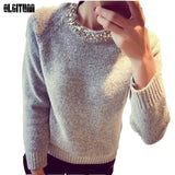 Women Sweater 2019 Spring Autumn New Long Sleeve Beading Diamond Knitted Sweater And Pullover Soft Female Top