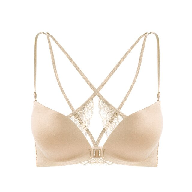 Sexy backless Super Push Up Bra Front Closure Butterfly Bras For Women