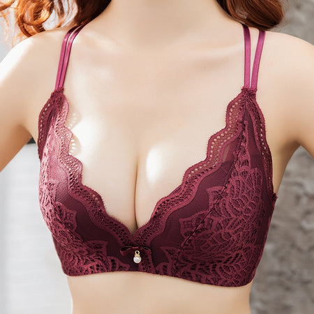 Sexy Bra Set 2 Pieces Women Rhinestone Squine Padded Push-up Lace Up lingerie Set Summer Women Underwear Bra 810