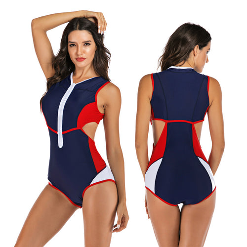 Swimming Suit For Women Swimsuit 2019 One Piece With Push Up Swimsuits Woman Swim Wear Swimwear Surf Sleeveless Solid Polyester