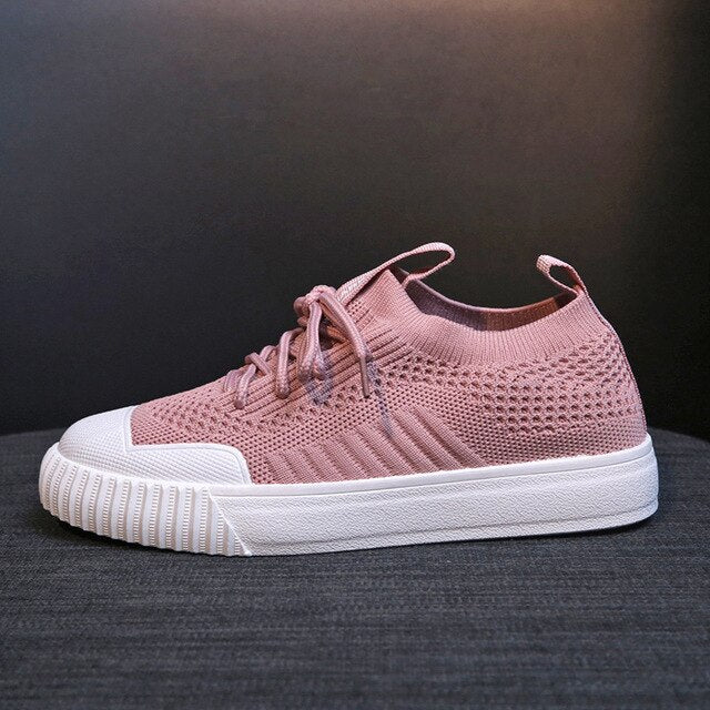 2019 New Breathable Mesh Women Casual Shoes Creepers Platform Vulcanize Shoes Female Fashion Sneakers Lace Up Footwear K7-09
