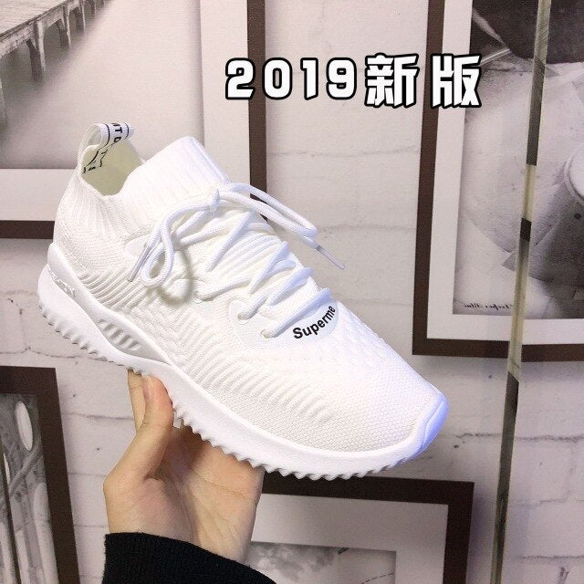 2019 Fashion Women Shoes Comfortable Breathable Mesh Female Casual Sneakers High Quality Ladies Leisure Footwear