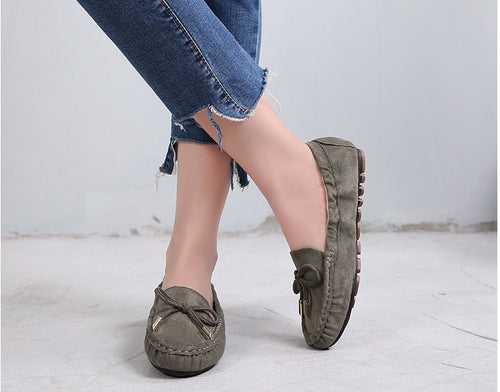 sweet Women Moccasin Loafer Ladies Summer Autumn Slip-On Peas Shoes Comfortable Walking Footwear Light And Breathable 2019 D857
