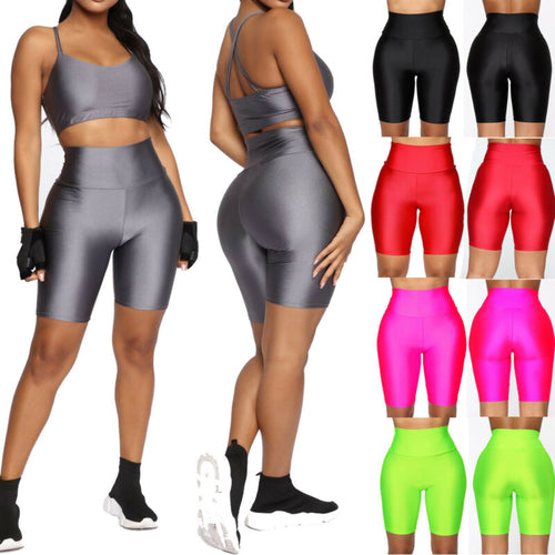 5 Colors Women Solid Sport Shorts Running Gym Fitness High Waist Shorts Workout Beach Casual Sports Outfit for Women Gym