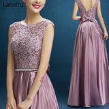 New Arrival Red Blue Pink Purple Floor Length Lady Girl Women Princess Bridesmaid Banquet Party Ball Dress Gown Fast Shipping