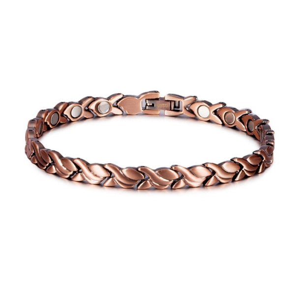Vinterly Pure Copper Bracelet Men Energy Germanium Magnetic Bracelet Copper Vintage Hologram Chain & Link Bracelets for Men 2018