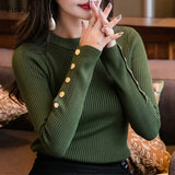 Fitaylor Women Sweater High Elastic Solid O Neck Spring Summer Fashion Sweater Women Slim Hight Bottoming Knitted Pullovers