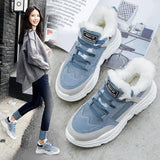 2019 Shoes Winter Warm Platform Woman Snow Boots Plush Female Casual Sneakers Faux Suede Leather Female Snowboots Warm Shoes Fur
