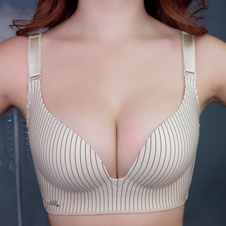 Sexy Deep V Cup Bras For Women Push Up Lingerie Seamless Bra Bralette Backless Plunge Intimates Female Underwear 2019