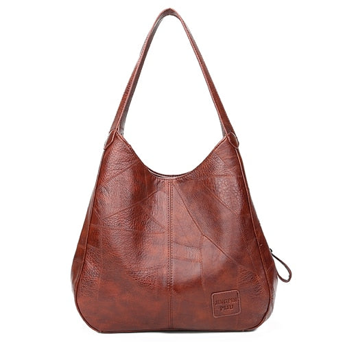 Vintage PU Leather Women Bag Handbags Designer Famous Brand Shoulder Bag For Women Sac A Main Large Capacity Ladies Hand Bags
