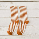 Okdeals 1Pair 2019 Autumn Cute Striped Socks Women Fashion Harajuku Candy Color Socks Medias Cotton Thick Warm Long Funny Socks