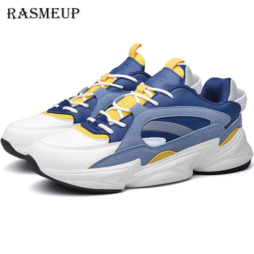 RASMEUP Plus Size 44 Women's Flat Sneakers Breathable 2019 Fashion Women Men Trainers Casual Comfort Woman Chunky Shoes Footwear