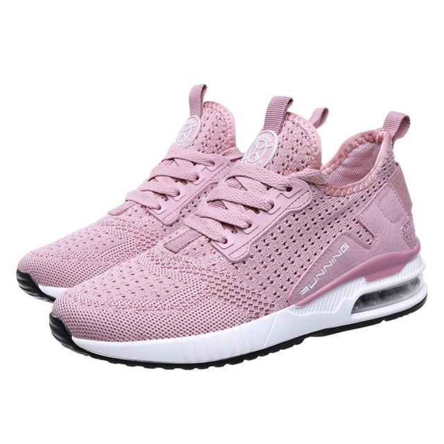 Women Sneakers Spring Summer Air Mesh Breathable Pink Sneaker Student Casual Shoes For Female Lightweight Footwear 1820w