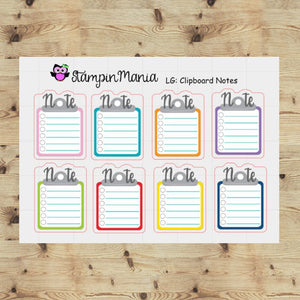Clipboard Notes Functional Stickers - Large