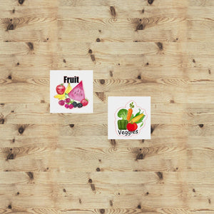 Fruits and Veggies Functional Stickers