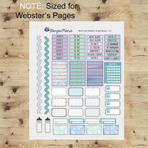 "Book Love Weekl kit/8""x10"" sheets/ Websters Pages/Color Crush/Kikki K"