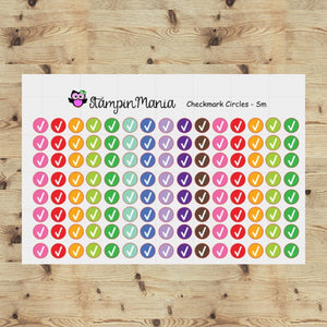 Checkmark Circle Functional Stickers