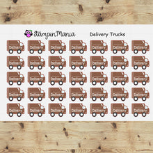 Load image into Gallery viewer, Delivery Trucks Planner Stickers/EC/HP