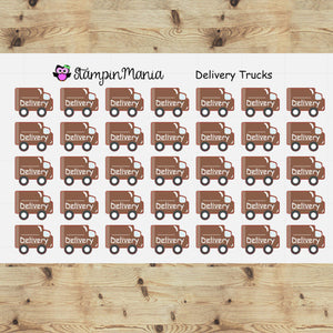 Delivery Trucks Planner Stickers/EC/HP