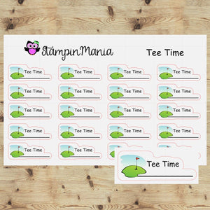 Tee Time - Golf Planner Stickers/EC/HP