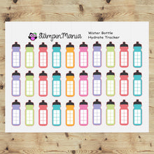 Load image into Gallery viewer, Water Bottle Hydrate Tracker  Planner Stickers/EC/HP