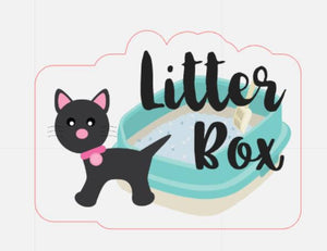 Cat Litter Box -LG Planner Stickers