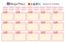 Load image into Gallery viewer, Random Acts of Kindness Planner Stickers