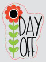 Day Off Planner Stickers/EC/HP  (red/green/black)