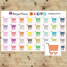 Load image into Gallery viewer, Shopping Carts Planner Stickers