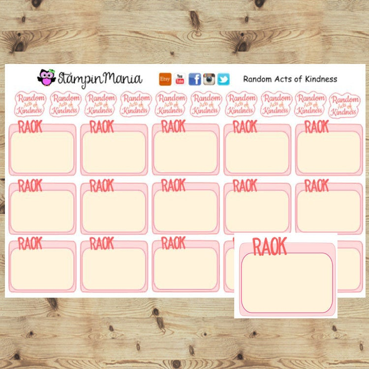 Random Acts of Kindness Planner Stickers