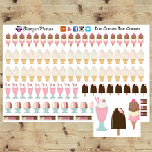 Load image into Gallery viewer, Ice Cream Planner Stickers